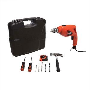 Black-Decker Bor Impact 10mm - Toolkit 9 Pcs HD400K9
