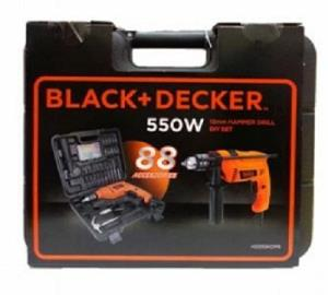 Black-Decker Bor Impact Set 13mm - 88 Accesories