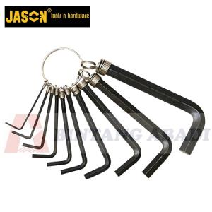 Jason Kunci L Set Hitam 10 Pcs (1,5 - 10 mm)